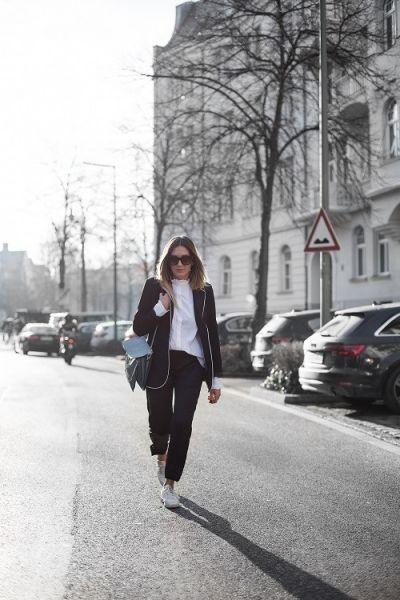 Get the look: Black & white