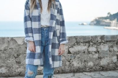 Geruite blouse: trend!