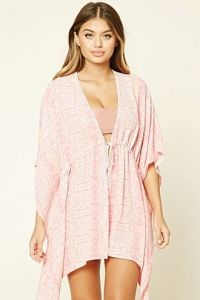 Strand Kaftan met Abstract Dessin