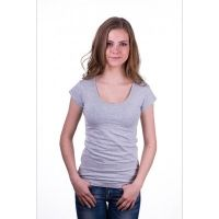 Claesen's Women T-Shirt Round neck s/s Grey ( cl 8015 )