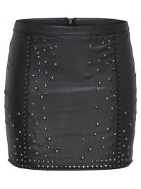 ONLY Leather Look Rok Dames Zwart