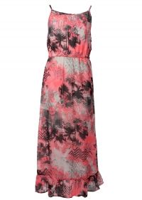 Dutch Jeans roze met zwarte maxi dress Beach 24673BH