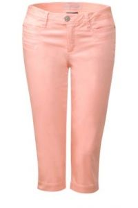3/4-slim fit broek Yulius - lucky peach