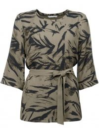 YAYA YAYA PRINTED TOP WITH KIMONO SLEEVE