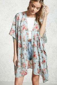 Tall Milly Satin Floral Print Kimono Robe