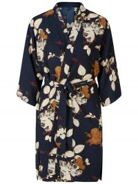 Y.A.S Vrouwelijke Mahonie Bloemenprint Kimono