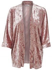 ONLY Fluwelen Kimono Dames Bruin