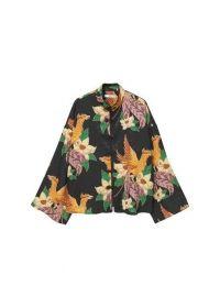 Gebloemde kimonoblouse