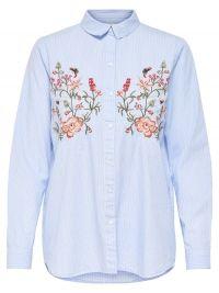 Only Geborduurd Overhemd Met Lange Mouwen