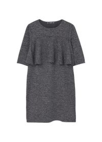 Getextureerde jurk met strook