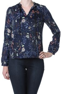 Vero Moda marineblauw geprinte blouse Ellenpol 10161368