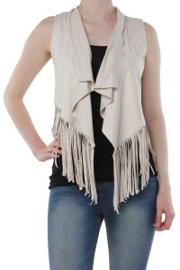 Only beige suèdine gilet Queenie