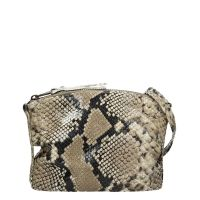 Fred de la Bretoniere Diamant Lux Cross Body Small Snake Print taupe