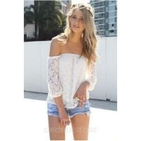 Shirt - Off shoulder lace