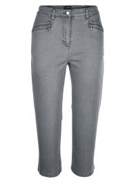 Capri-jeans MIAMODA grey denim
