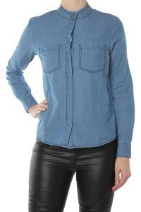 ICHI bleu denim blouse Roesel 20103196