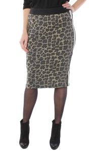 We Are The Wild Ones donkergroen geprinte midi rok Leopard 3348
