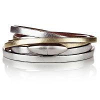 Antonio Ben Chimol armband Bullet Steel Silver Gold