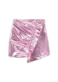 Metallic gedrapeerde rok