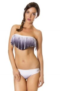 Fringe bikini wit-zwart verloop TOP L