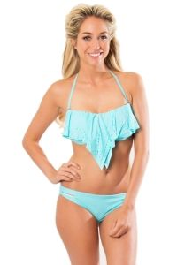 Bikini crop top aqua TOP M