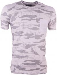 One Jumper - Heren T-shirt - camouflage - wit - T3342
