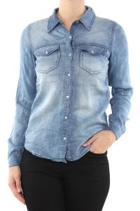 Vila medium blauw jeansblouse Bista