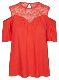 Vero Moda Cold-Shoulder Shirt Met Korte Mouwen