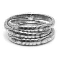 Armband stainless steel met magneet in zilverkleur