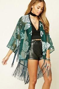 Kimono met Fluwelen Dessin