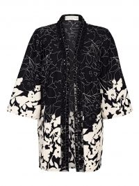 Kimonovestje Together zwart/wolwit