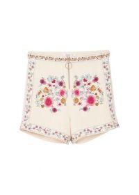 Shorts met bloemenborduursel