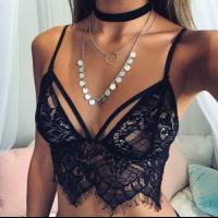 Bralette lace - zwart/wit