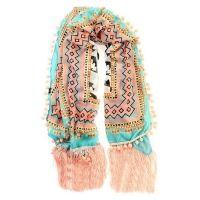 Ibiza sjaal Bombetes Lichtblauw
