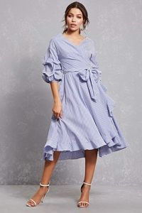 Ruffled Wrap Shirt Dress