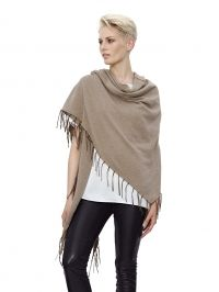 Poncho AMY VERMONT taupe gemêleerd