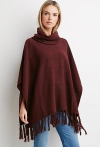 Contemporary Fringed Hem Poncho