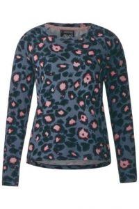Sweatshirt met luipaardprint - baltic grey