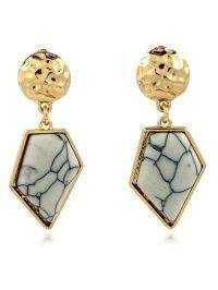 Faux Turquoise Irregular Geometric Earrings