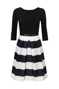 Gestreepte A-lijn jurk Zwart Steps