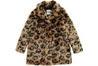 Essentiel fake fur panterprint jas