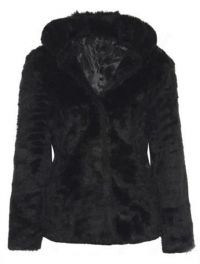 Trendy Hooded Long Sleeve Pure Color Faux Fur Coat For Women