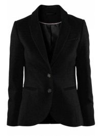 Solid Color Lapel Collar Blazer