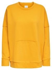 ONLY Oversize Sweatshirt Dames Geel