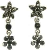 Vintage oorstekers in bloemetjesvorm met steentjes