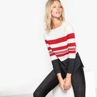 Sweater met multicolor strepen