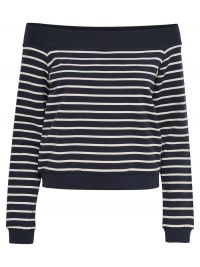 ONLY Off-shoulder Sweatshirt Dames Blauw