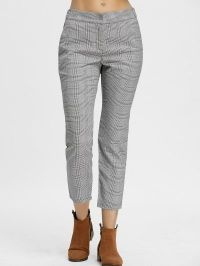 Zig Zag Plaid Pants