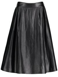 Midi Faux Leather Plus Size Skirt