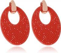 Ovale oorbellen Cilla Jewels Goud Rood